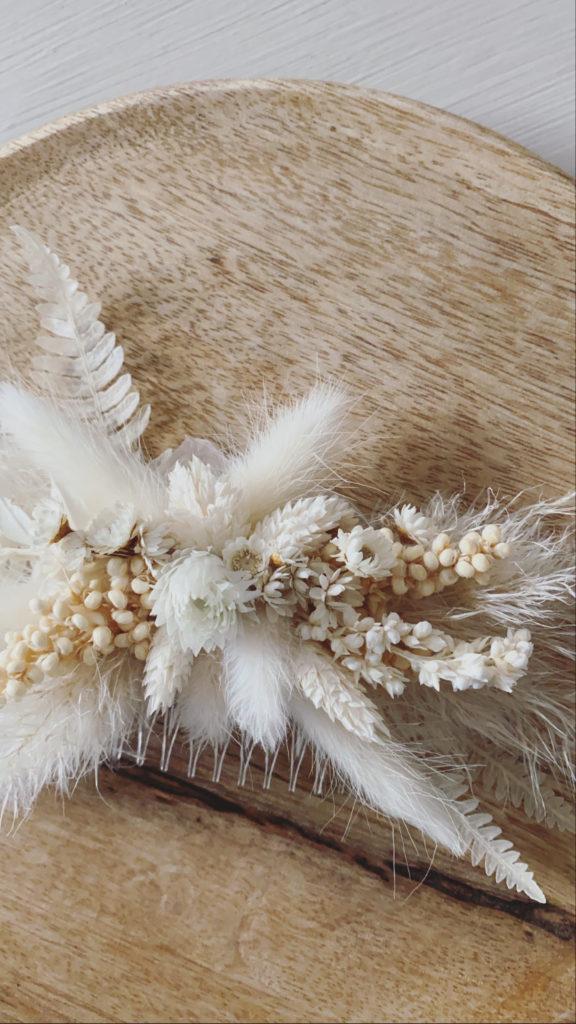 Serie INNOCENT floraler Haarkamm Trockenblumen/ hair cromp   Etsy